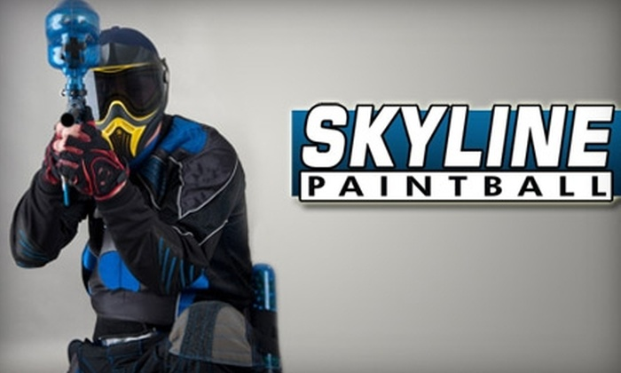 Skyline Paintball - Strasburg: $40 for All-Day Equipment Rentals for Two People, 500 Paintballs, and Two T-shirts at Skyline Paintball in Strasburg