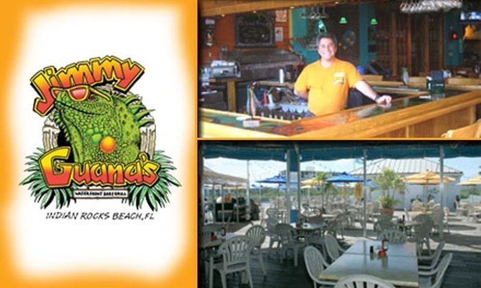 Jimmy Guana's Restaurant - Indian Rocks Beach: $12 for $25 Worth of Seaside Eats and Drinks at Jimmy Guana's
