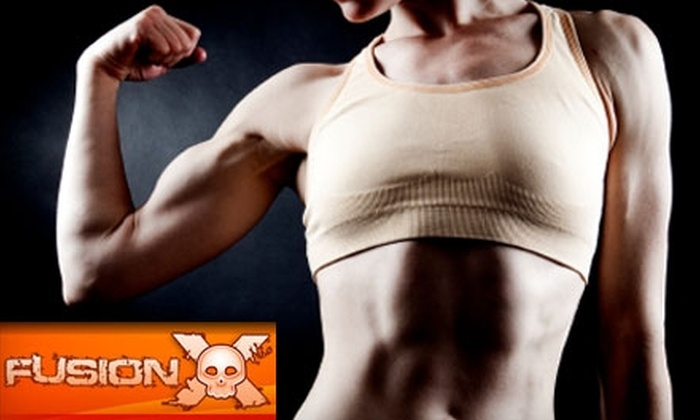 Fusion X Health and Fitness - Lincoln: $42 for One Month of Unlimited Boot-Camp Classes and Nutritional Planning at Fusion X Health and Fitness ($247 Value)