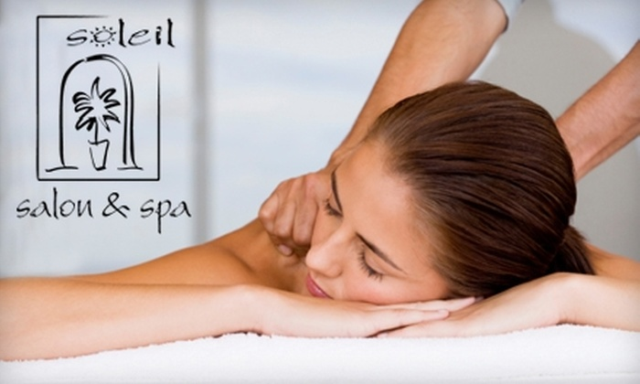 Soleil Salon & Spa - Windham: $59 for a Glyco Renewing Facial or 90-Minute Massage at Soleil Salon & Spa in Windham (Up to $125 Value)