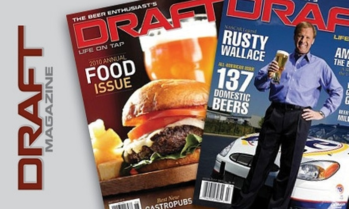 """DRAFT"" Magazine - Nashville: $10 for a One-Year Subscription to Bi-Monthly ""DRAFT"" Magazine ($19.99 Value)"