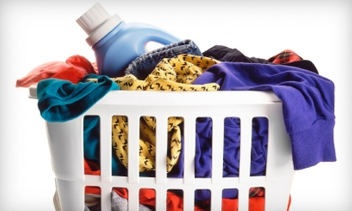 Wash Em Up - Midland: $5 for 10 lb. of Laundry with Pickup and Delivery from Wash Em Up ($10 Value)