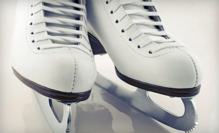 Open-Skate Admission and Ice-Skate Rental for 2 People - Ice Town in Riverside
