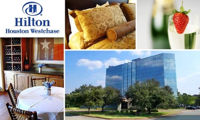 Hilton Houston Westchase Hotel - Westchase: $150 for New Years Eve Hotel Stay, Dinner, Strawberries, and Champagne at Hilton Houston