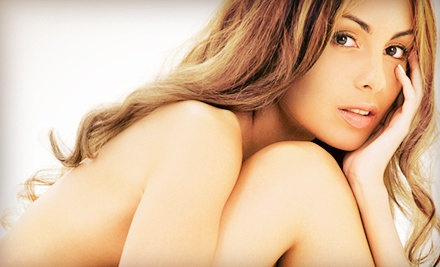 One, Three, or Five Organic Sunless Glow Airbrush Tans at Skin Blends (Up to 64% Off)
