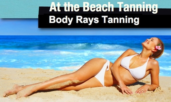 At the Beach Tanning - Multiple Locations: $35 for Two Airbrush Tans (Up to $100 Value) or $35 for $75 Worth of Tanning Services at Body Rays Tanning or At the Beach Tanning