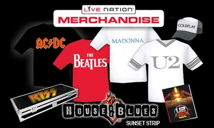House of Blues Sunset Strip - West Hollywood: $9 for $20 Worth of Rocking Concert Merchandise at The Great Rock 'N Roll Sample Sale at House of Blues Sunset Strip