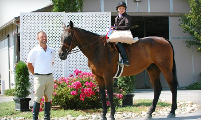 High Standard Equestrians - Wilton: $99 for Four Private Horseback-Riding Lessons at High Standard Equestrians in Wilton ($240 Value)