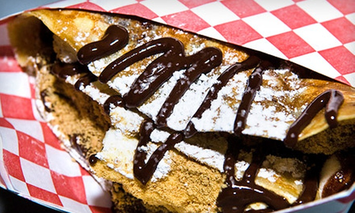 Crepe'n Around - Greater Mulwood: $10 for $20 Worth of Crêpes and Garlic Fries at Crepe'n Around in Chatsworth