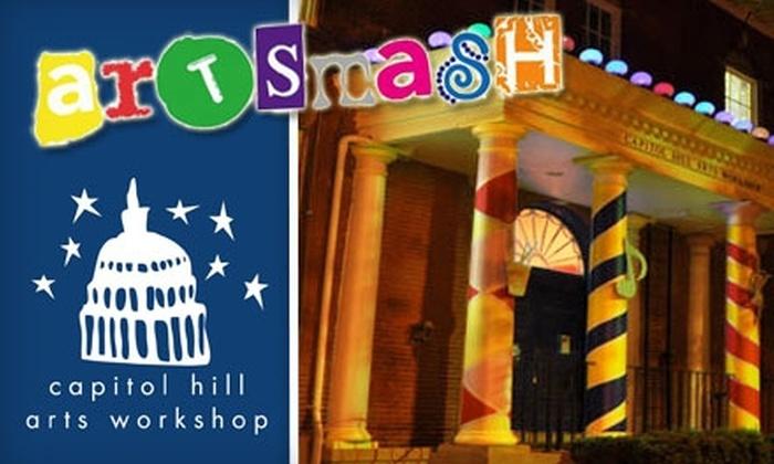 ArtSmash - Capitol Hill: $35 for One Ticket to ArtSmash on October 2 at Capitol Hill Arts Workshop ($50 Value)
