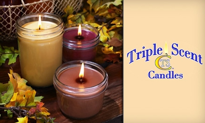 Triple Scent Candles - Holiday Meadows: $10 for $20 Worth of Fragrant Candles from Triple Scent Candles in North Richland Hills