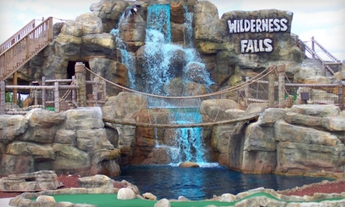 Wilderness Falls - Bolingbrook: $11 for Two Adult Rounds of Mini Golf and Five Batting-Cage Tokens at Wilderness Falls in Bolingbrook ($22.15 Value)