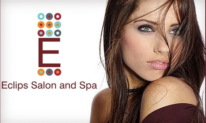 Eclips Salon and Spa - Shrewsbury: $25 for a Shampoo, Scalp Massage, Deep Conditioning Treatment, Cut, Style, and Blowout at Eclips Salon and Spa (a $69 Value)