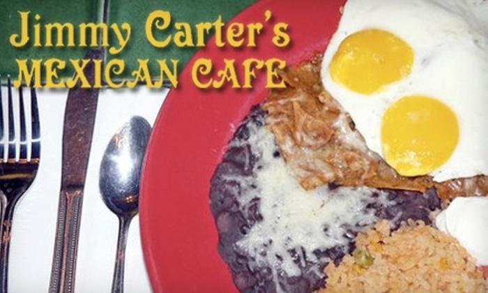Jimmy Carter's Mexican Café - Park West: $10 for $22 Worth of Mexican Fare and Drinks at Jimmy Carter's Mexican Café