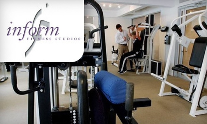 InForm Fitness Studio - Weisenberg: $49 for Three Personal-Training Sessions at InForm Fitness Studio ($135 Value)