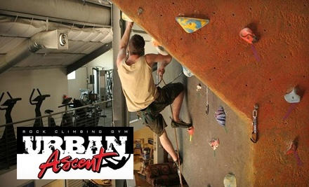 Urban Ascent: Starter Package, including a 1-Day Pass, Gear Rentals, and a Belay Class  - Urban Ascent in Boise