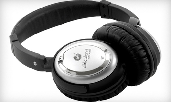 AblePlanet's Award Winning Noise-Canceling Headphones: $69 for Noise-Canceling Headphones Featuring Linx Audio Technology with Protective Case and Accessories. Shipping Included. (Up to $307.99 Total Value)