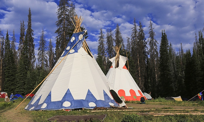 Running Reins Ranch - Lousana: 2-Night Stay for 2-,4-, or 6-Person TeePee at Running Reins Ranch (Up to 37% Off)