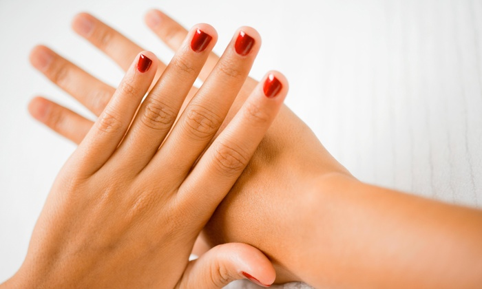 "Polished The Nail Boutique - North Arlington: No-Chip Manicure and Pedicure Package from Polished ""The Nail Boutique"" (44% Off)"