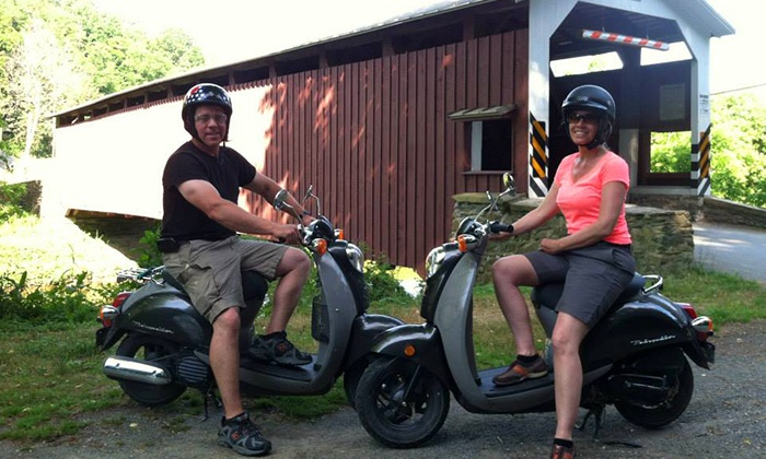 Strasburg Scooters - Strasburg: Covered Bridge and Amish Farm or Homestead Scooter Tour for Two or Four from Strasburg Scooters (Up to 56% Off)