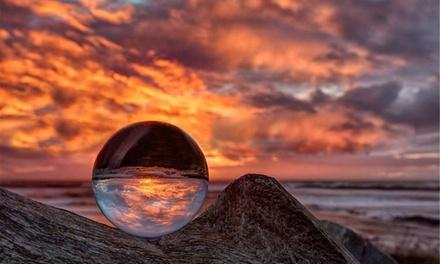 Palla di cristallo 50 mm di colore trasparente