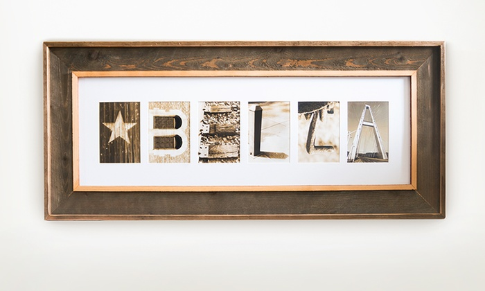 Frame the Alphabet - From $59 | Groupon
