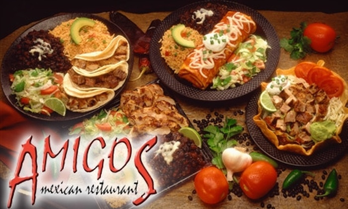 Amigos Mexican Restaurant - Downtown: $10 for $25 Worth of Mexican Fare and Drinks at Amigos Mexican Restaurant