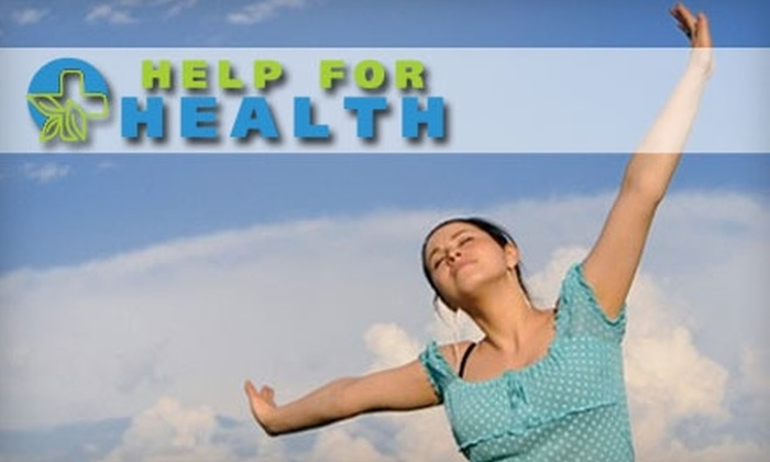 Help For Health - West Springfield: Wellness-Boosting Treatments from Help For Health. Choose from Three Options.