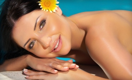 Darque Tan: 1 Sunless Spray Tan and 1 Red-Light Therapy Session - Darque Tan in Scottsdale