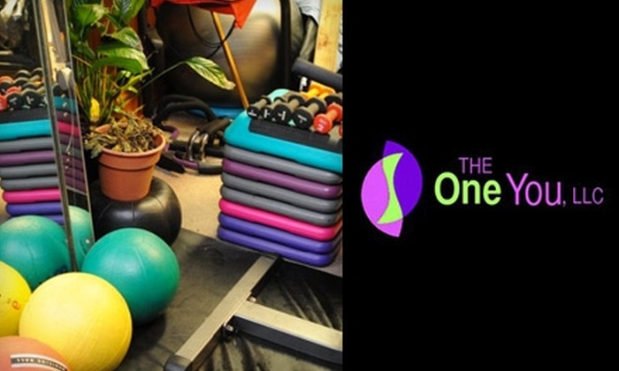 The One You - Catasauqua: $59 for Five Personal Training Sessions ($120 Value) or $40 for a 90-Minute Deep Tissue Massage ($95 Value) at The One You