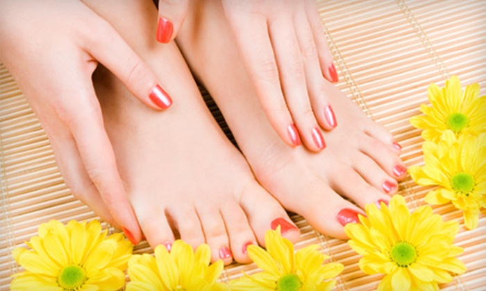 Laser Spot - Downtown Brampton: $30 for a Shellac Manicure and Classic Pedicure at Laser Spot in Brampton ($75 Value)