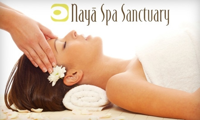 Naya Spa Sanctuary - Deer Park: $59 for a Cinnamon Nutmeg Hot Oil Body Wrap, Shirodhara Scalp Massage, and $20 Gift Card at Naya Spa Sanctuary