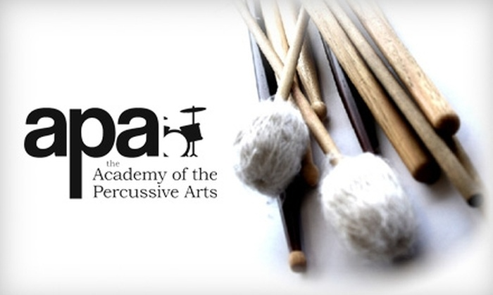 Academy of the Percussive Arts - Four Way: $25 for Two 30-Minute Private Drum Lessons at the Academy of the Percussive Arts ($50 value)