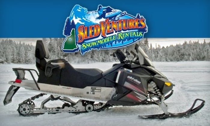 SledVentures Snowmobile Rentals - Lincoln: $45 for a One-Hour Snowmobiling Tour ($89 Value) or $85 for a Two-Hour Snowmobiling Tour ($139) from SledVentures Snowmobile Rentals