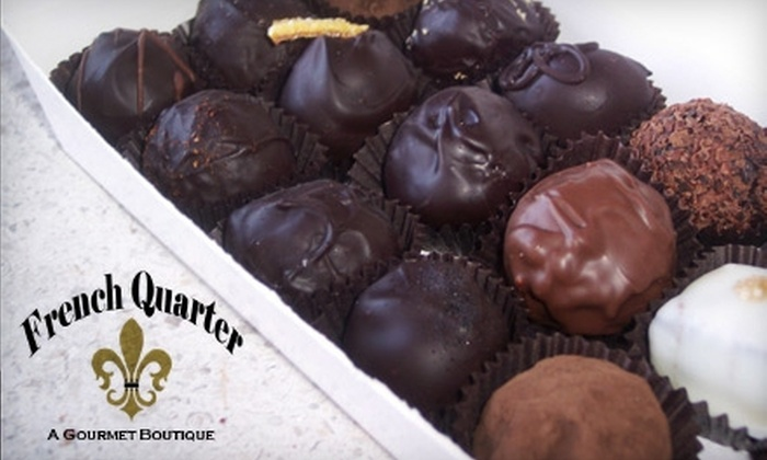 The French Quarter - Riverside: $12 for an 18-Count Box of Luscious Chocolates from The French Quarter ($25 Value)