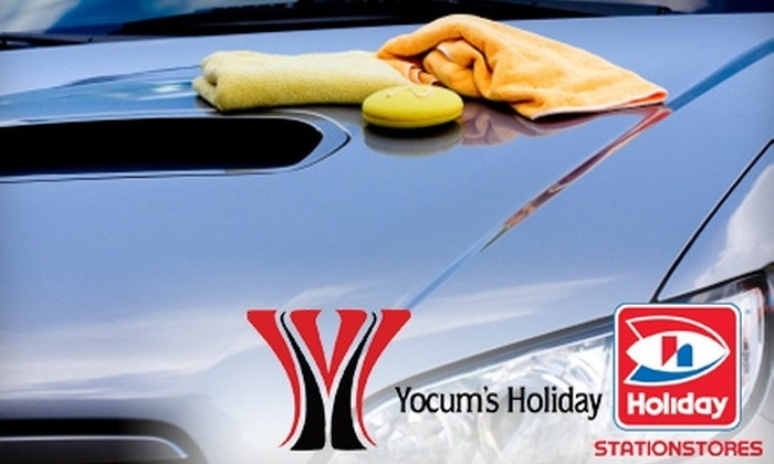 Yocum Oil Company - Multiple Locations: $25 for Five-Pack of Rain-X Car Washes at Yocum's Holiday Station ($59.95 Value). Choose from Eight Locations.