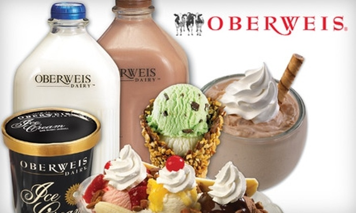 Oberweis Dairy - Multiple Locations: $5 for $10 Worth of In-Store Fountain Dairy and Grocery Products at Oberweis Dairy