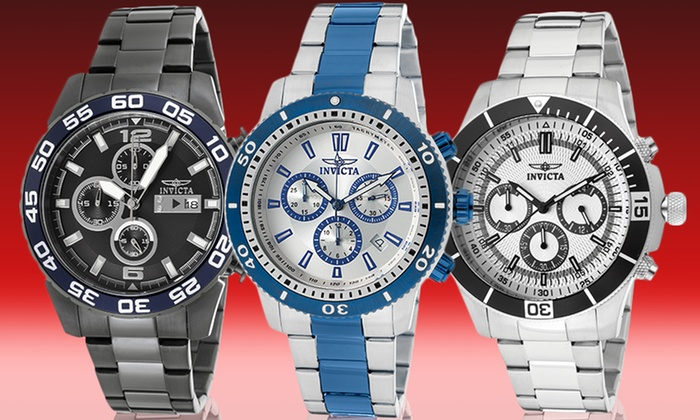 Invicta Specialty Chronograph Watch: Men's Invicta Specialty or Pro Diver Chronograph Watch. Multiple Styles Available. Free Shipping and Returns.