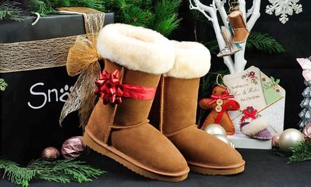 Boots fourrées Snow Paw en cuir suédé