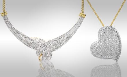 1 CTTW Diamond Necklaces