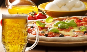 Ristorante Pizzeria Aurora: Menu pizza a scelta con birra per 2 o 4 persone al ristorante pizzeria Aurora (sconto fino a 64%)