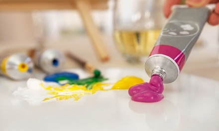 BYOB Wineglass-Painting Night for One, Two, Three, or Four at Kreation Station (Up to 61% Off)