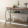 Russel Bar Console Table in Brown Oak Finish
