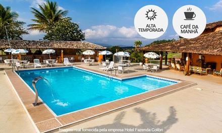 Amargosa/BA: 2, 3, 4, 5 ou 7 noites para 2 (opções em feriados) + café da manhã no Hotel Fazenda Colibri