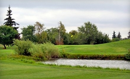 Fort in View Golf and Country Club: 18 Holes of Golf for Two, a Power Cart, and 2 Large Buckets of Balls, Valid Mon.Thurs. 12PM4PM  - Fort in View Golf and Country Club in Fort Saskatchewan