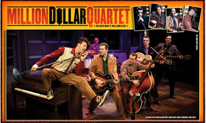 "Million Dollar Quartet - DePaul: $40 for One Ticket to ""Million Dollar Quartet"" at Apollo Theater. Buy Here for 1/20/10 at 2 p.m. See Below for Additional Performances."
