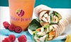 Jugo Juice-Orchard Park Shopping Centre - Central City: Flatbreads or Wraps and Smoothies for Two, or $5 for $10 Worth of Meal Items and Smoothies at Jugo Juice