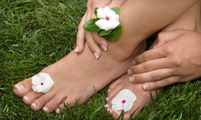 Elysian Fields Day Spa - Whitby: Mani-Pedi Package with Optional Facial at Elysian Fields Day Spa in Whitby (Up to 55% Off)