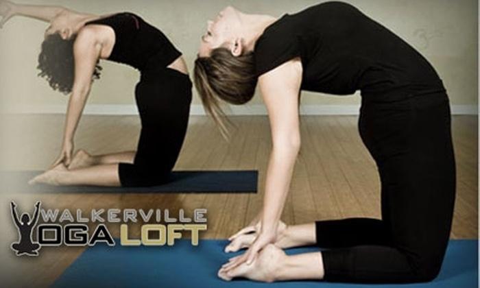 Walkerville Yoga Loft - Walkerville: $40 for One Month of Unlimited Classes at Walkerville Yoga Loft ($90 Value)