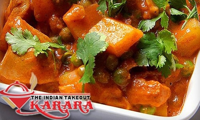 KARARA The Indian Takeout - New Barrhaven - New Development - Stonebridge: $8 for $20 Worth of Indian Fare at Karara The Indian Takeout